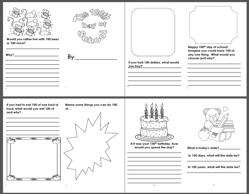 100 Days of School Lesson links ideas printables – 100 Day Math Worksheets