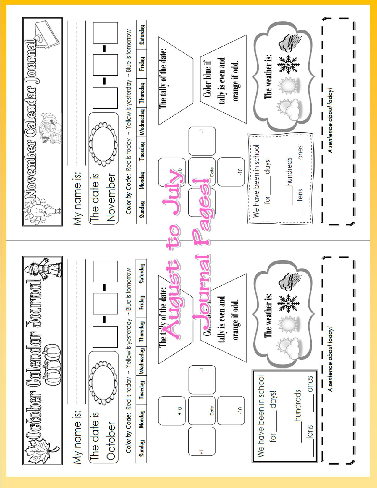 Calendar Activities For First Grade : Printable calendar activities for first grade the