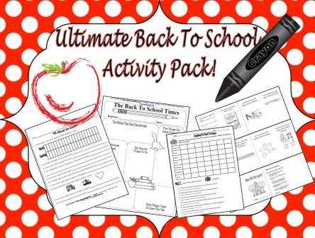 Back to School Activities, Ideas, Lesson Plans, and Printables