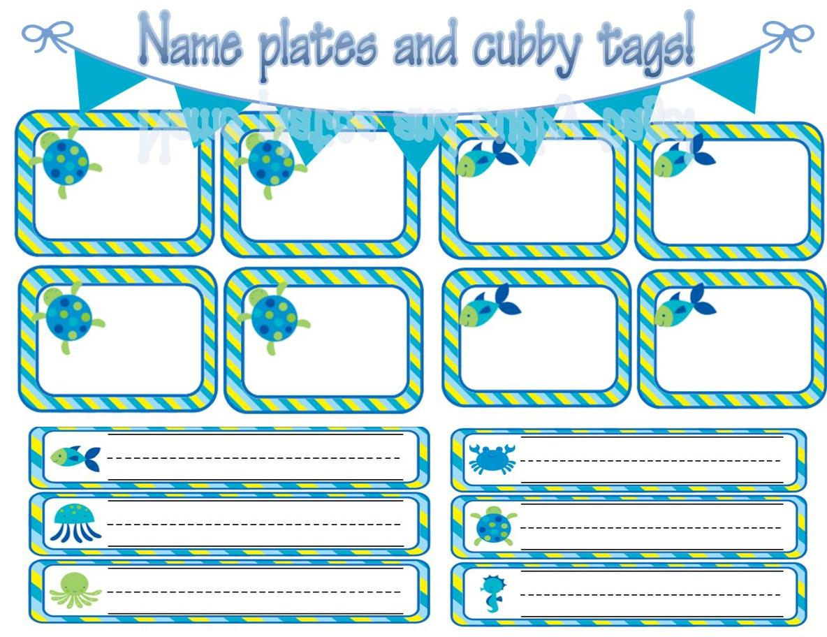Ocean Themed Classroom Decorations and Forms - Teaching Heart Blog ...