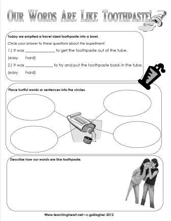 math worksheet : bucket filling for the classroom  lessons ideas and printables : Bullying Worksheets For Kindergarten