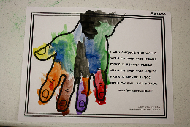 Many Wonderful MLK ideas like the below from Preschool Daze! Click to ...
