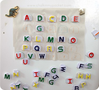 Guest post from Colleen Gallagher at Teaching Heart who gives us some fun ideas for Magnetic Letter Fun!