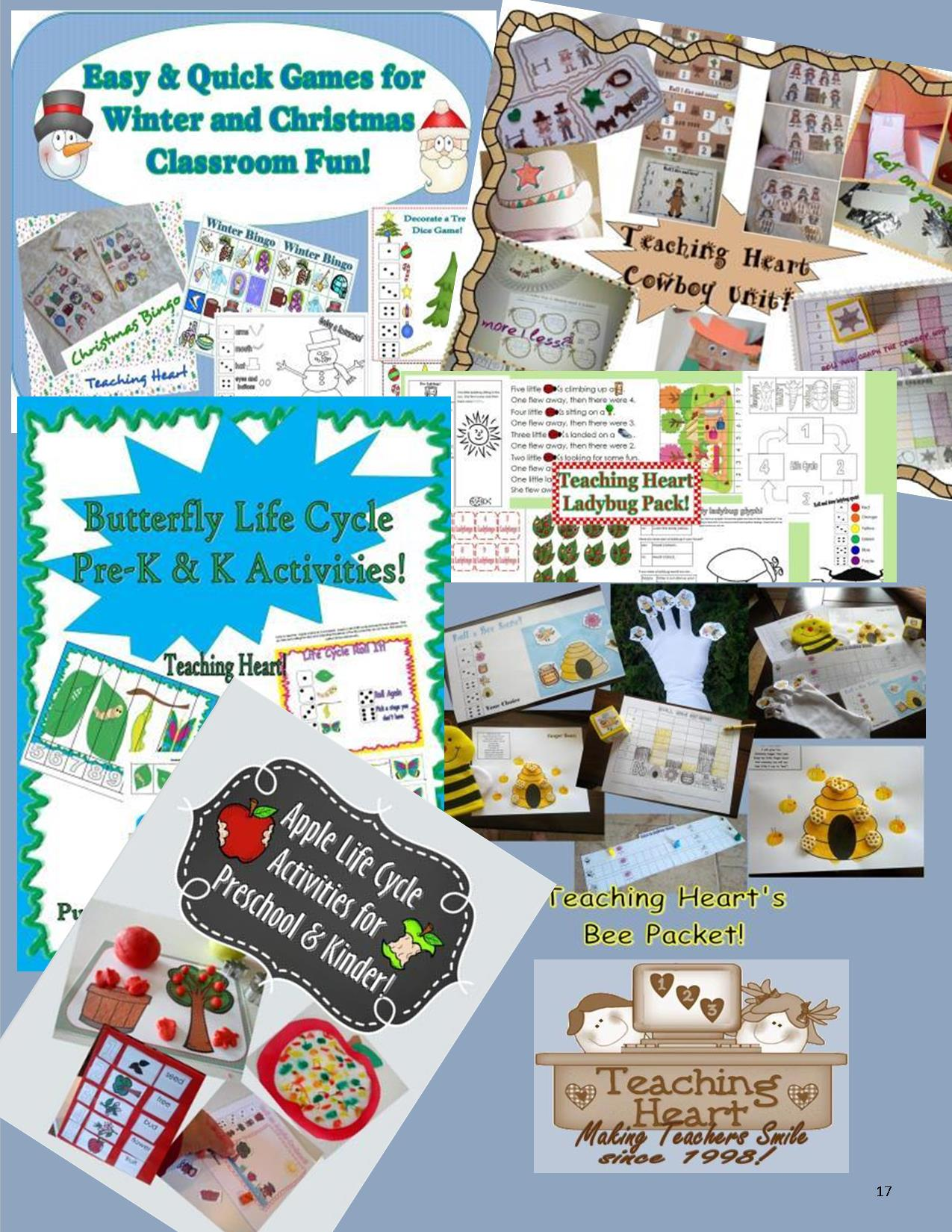 Preschool and Kindergarten Thematic Printable Learning Unit
