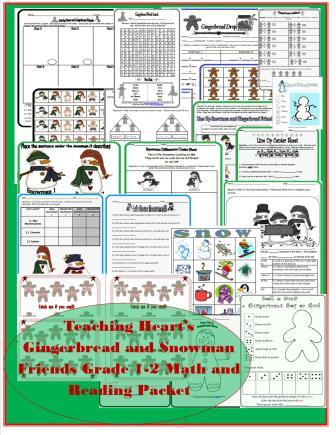 Math Worksheets gingerbread math worksheets : The Gingerbreadman Theme/Unit with Printables, Lessons, Ideas, and ...
